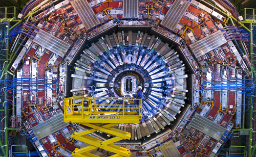 View of the CMS detector at the end of 2007